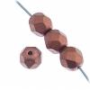 Czech Fire polished 6mm Copper Metallic